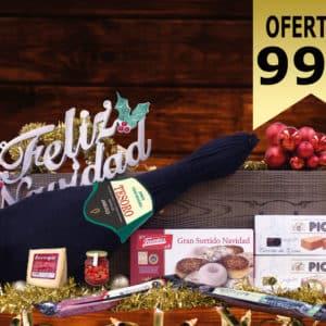 Lote navidad, cesta navida jamón tesoro de jabugo