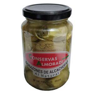 Corazones de Alcachofas al Natural Conservas-Almoradí La Dehesa