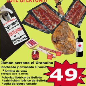 lote 1 loncheado serrano Jamonería La Dehesa