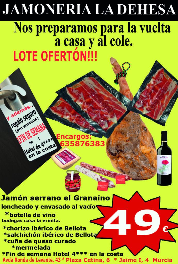 oferta septiembre jamón loncheado serrano 49€ bueno La Dehesa