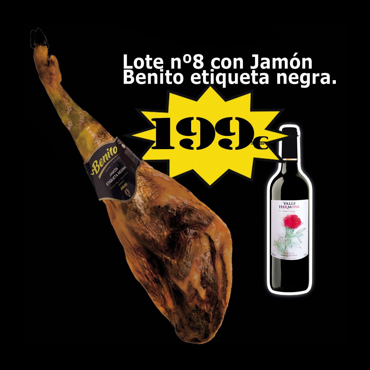 Lote de Navidad con jamón Jamonería La Dehesa